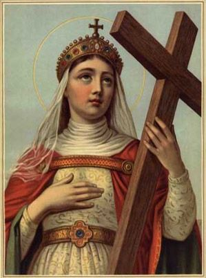 St Helen with the True Cross! This courageous woman was born in roman-occupied Britain and married Constantius. Later she gave birth to the great Constantine and converted to Catholicism. She went on pilgrimage to the holy land, where she discovered the Cross on which Jesus died. Very interesting life story.