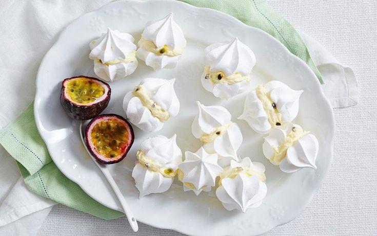 Passionfruit Meringue Kisses ~