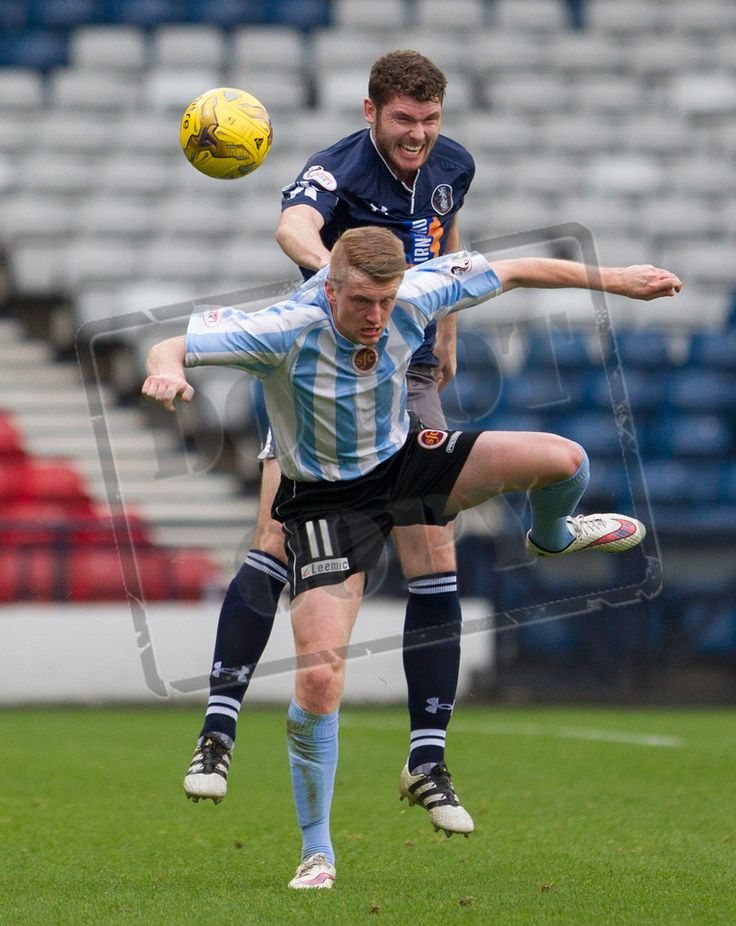 Queen's Park's Ryan McGeever in action during the Ladbrokes League One game between Queen's Park and Stenhousemuir.