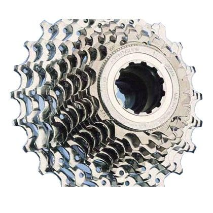 The Ultegra 9-speed cassette offers reduced weight, increased rigidity and reduced cog spacing. Steel chain rings with an aluminum carrier reduces weight and increases rigidity. Reduced cog spacing: 9-speed cassette is same width as 8-speed.