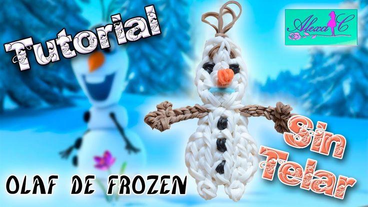 ♥ Tutorial: Olaf de Frozen de gomitas (sin telar) ♥
