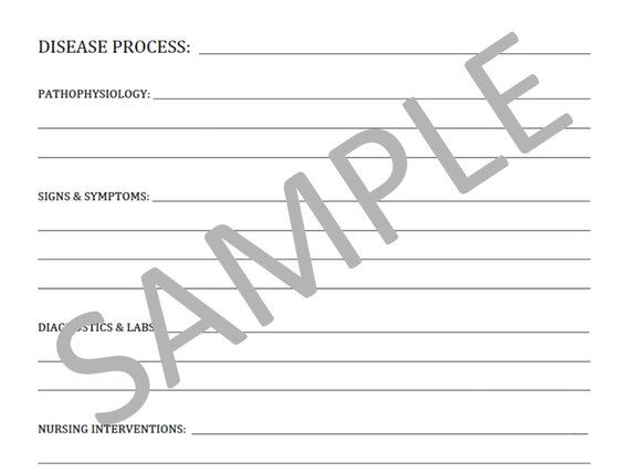 Blank Template For Notes PDF File Nursing Students