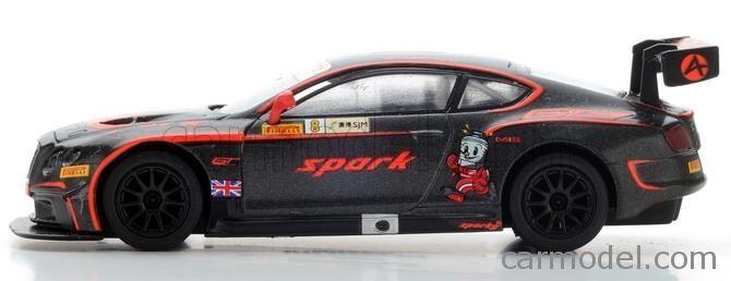 SPARK-MODEL Y104 Scale 1/64  BENTLEY CONTINENTAL GT3 TEAM BENTLEY TEAM ABSOLUTE N 8 MACAU GP FIA GT WORLD CUP 2015 ADDERLY FONG BLACK RED