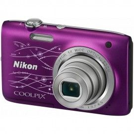 NIKON - Coolpix S2800 Viola Sensore CCD da 20Mpx Zoom Ottico 5x Display TFT da 2.5'' Filmati in HD Ready