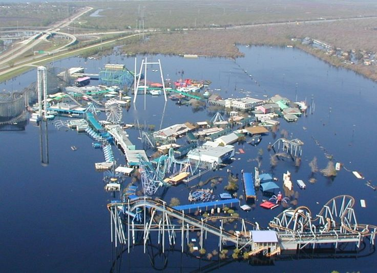 Six Flags New Orleans Hurricane Katrina Had Its Way With Much Of - 10 years hurricane katrina six flags theme park new orleans still lies abandoned 10 years