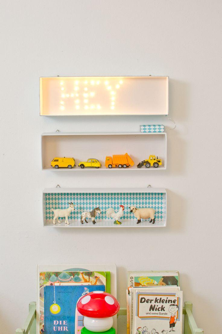 diy Leuchtschrift für´s Kinderzimmer (upcycling Karton