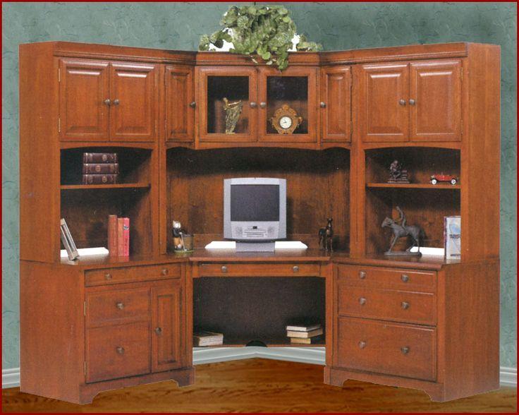 http://www.bebarang.com/make-your-own-office-with-home-office-furniture-set/ Make Your Own Office With Home Office Furniture Set : Americana Corner Home Office Set Home Office Furniture Sets