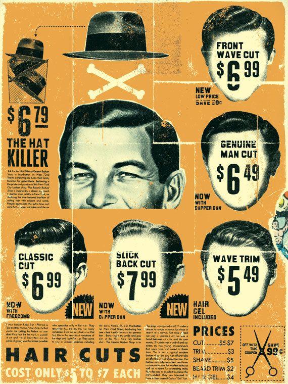 Vintage Mens Barber Shop Print 12 Quot X 16 Quot Matte Graphics