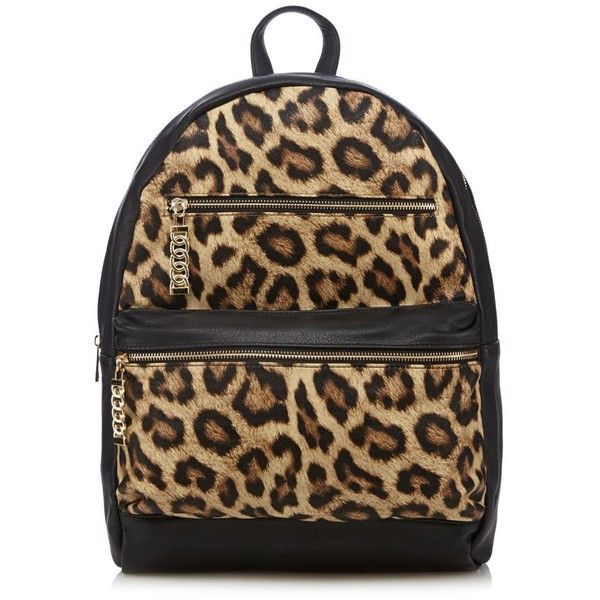 Call It Spring Tan 'Beachy' leopard print backpack ❤ liked on Polyvore featuring bags, backpacks, call it spring bags, brown bag, leopard print bag, rucksack bag y backpacks bags