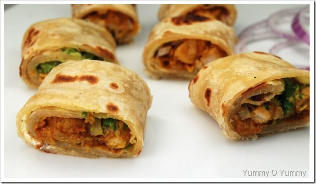 Chicken Kathi (Kati) Rolls | Yummy O Yummy