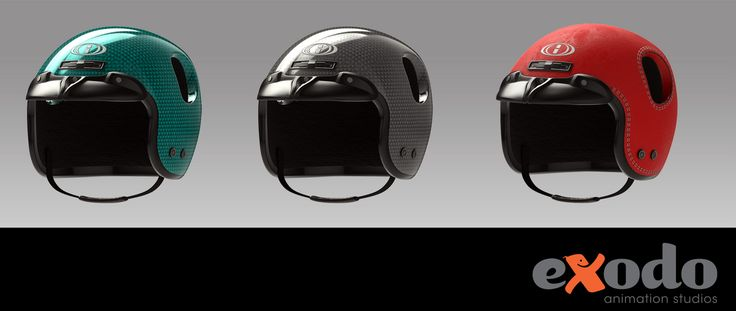Helmet render tests for 3d character