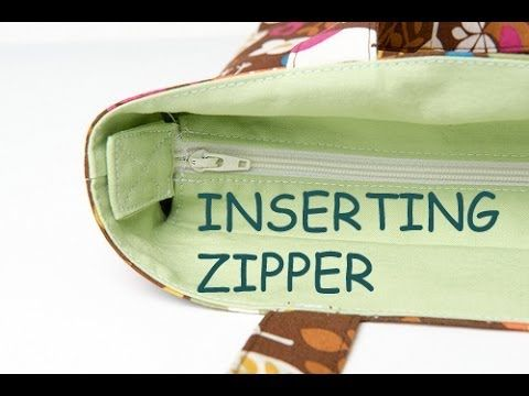 video recessed zipper application...