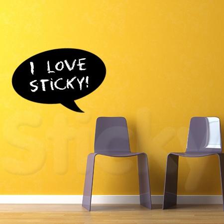 Blackboard Sticker SPEECH BUBBLE by Sticky!!!