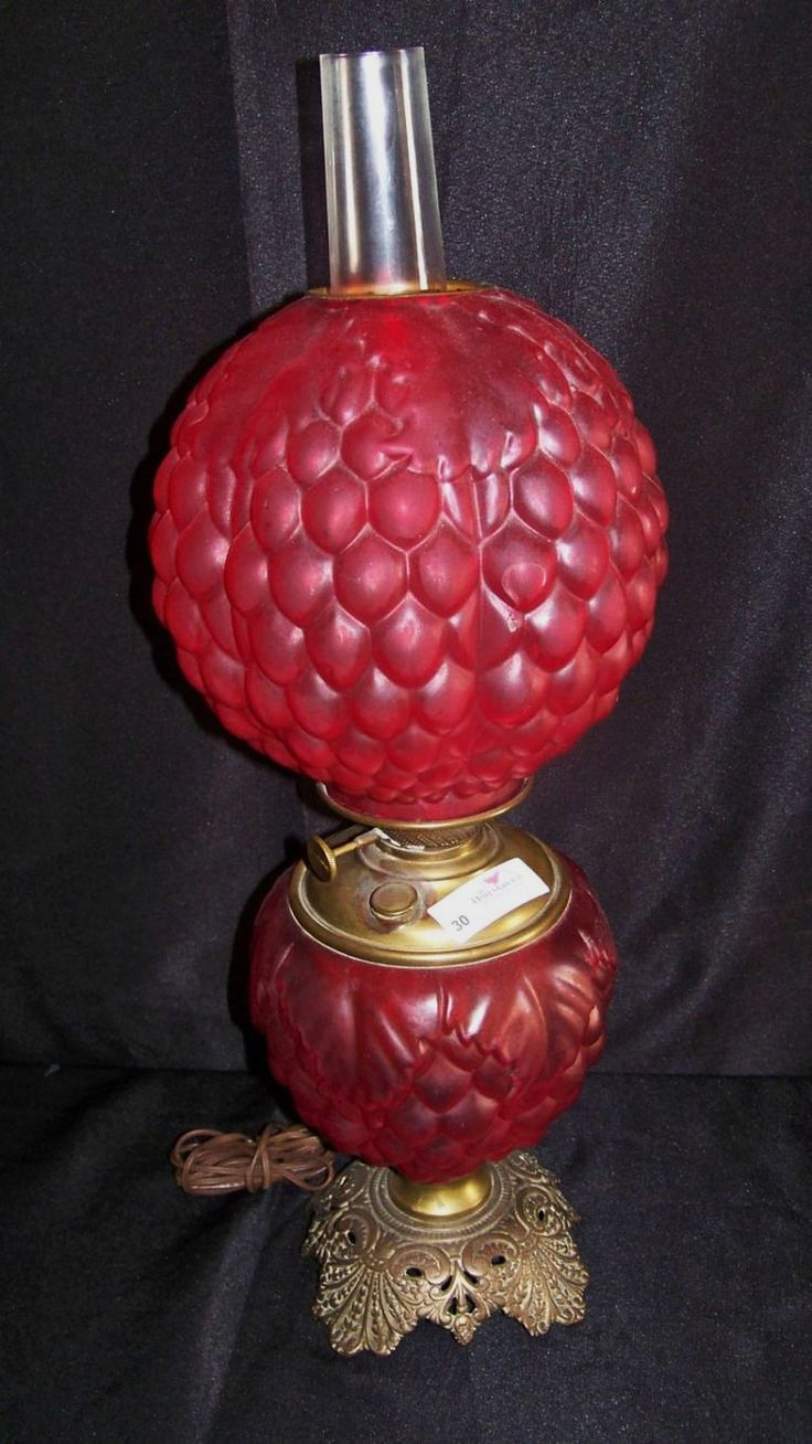 Past auction. Alberta Allen Living Estate Online Auction. Gone With the Wind Ruby Lamp. So cool! #auction #gonewiththewind #antiques