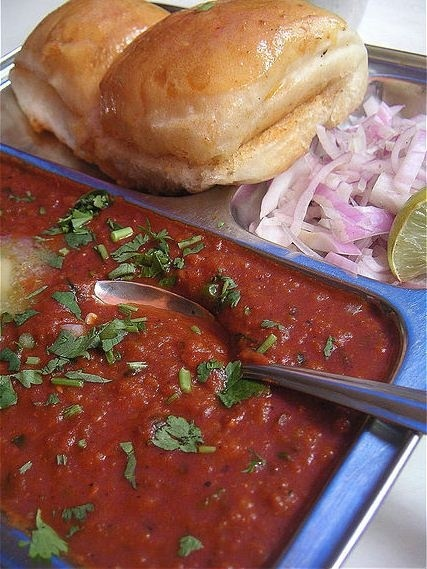 Relish a plate of mouthwatering Pav Bhaji this monsoon.