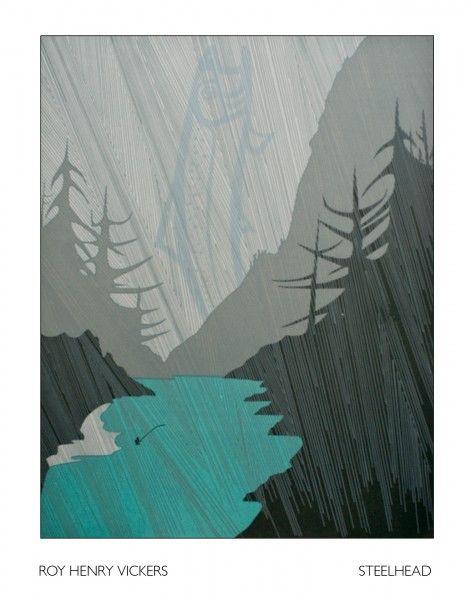 Steelhead -  by Roy Vickers, favourite Canadian artist