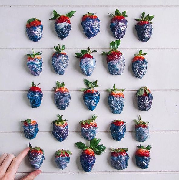 Intergalactic strawberries! Love these from @Msyan_ on Instagram | Cool Mom Eats
