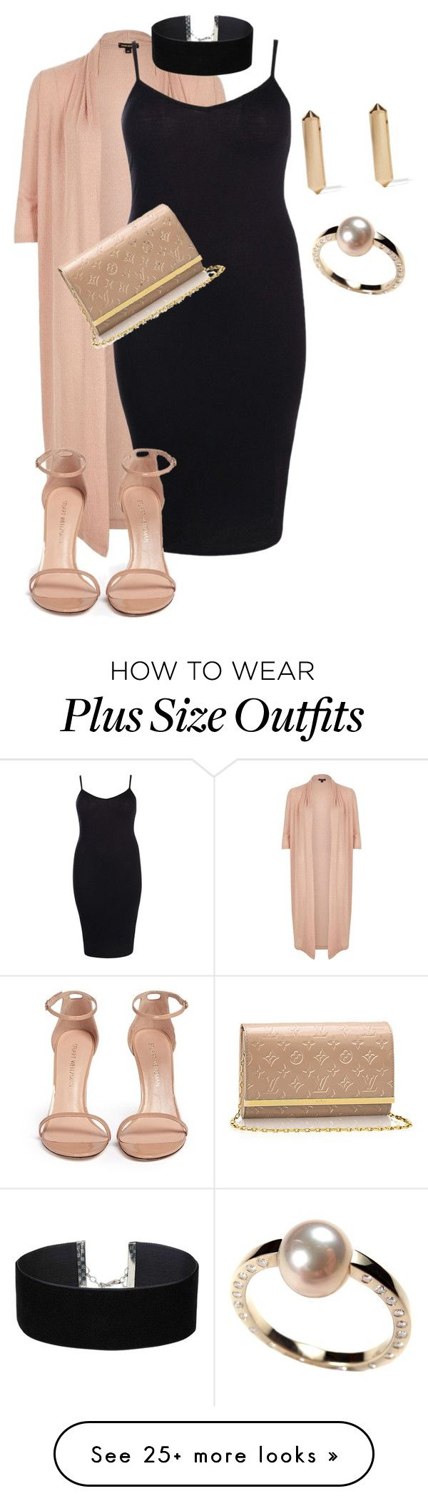"""Plus size beyond diva"" by xtrak on Polyvore featuring River Island, Boohoo, Stuart Weitzman, Eddie Borgo and Miss Selfridge"
