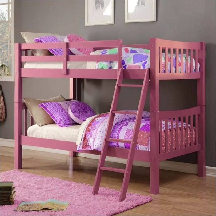 Donco Twin Over Twin Mission Bunk Bed in Pink. 27 best Bunk d Up images on Pinterest   Bed in  3 4 beds and Bunk