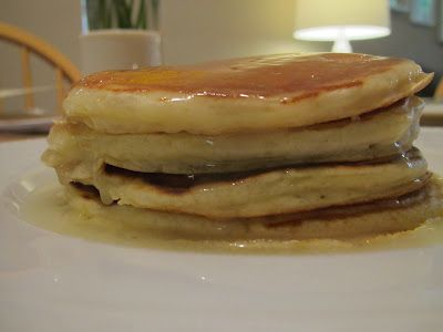 Homemade Buttermilk Pancakes - great to freeze. After they cool off, put them on parchment paper on a cookie sheet and freeze for 4-6 hours, then put in freezer safe ziploc bags and freeze for another morning. I added chocolate chips - yum!