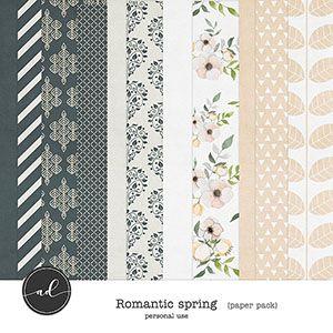Romantic Spring - Paper pack