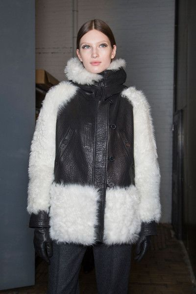 Yigal Azrouël at New York Fall 2015 (Backstage)...fabulous puffy #coat for winter...:)  #yigalazrouel #runway #catwalk #backstage #style #fashion