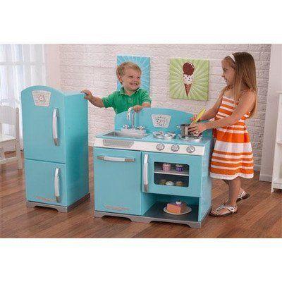 KidKraft Retro Play Kitchen U0026 Refrigerator (from Walmart)