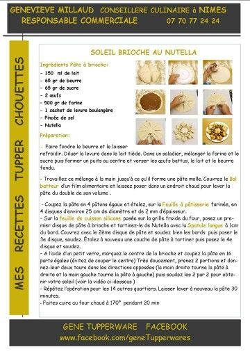 Tupperware - Soleil brioche au nutella