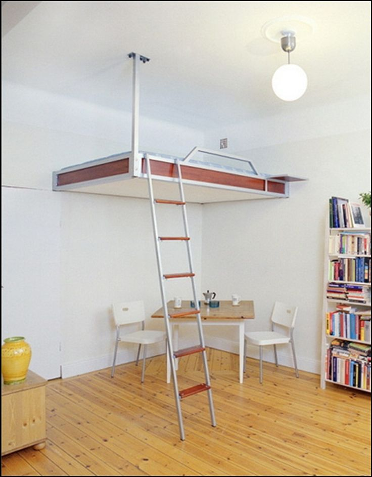 Design Space Saving and Loft Bed for Kids and Adults: Loft Bed Concept Ceiling Hanging ~ ideashomeconcept.com Bedrooms Inspiration