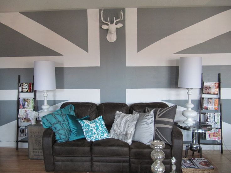 Hand painted union jack wall- super cool!