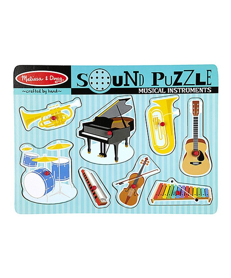 Musical Toys For Autistic Boys : Melissa doug musical instruments sound puzzle musicals