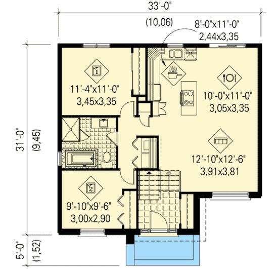 Best 25 split level house plans ideas on pinterest for Small urban house plans