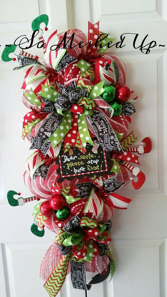 1973 Best Christmas Deco Mesh Wreaths Images On Pinterest