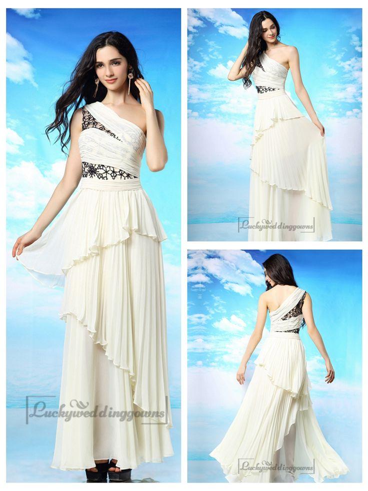 Milky-white One Shoulder Pleated Long Prom Dress with Layered Skirt http://www.ckdress.com/milkywhite-one-shoulder-pleated-long-prom-dress-  with-layered-skirt-p-2042.html  #wedding #dresses #dress #lightindream #lightindreaming #wed #clothing   #gown #weddingdresses #dressesonline #dressonline #bride