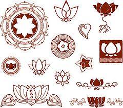 ist2_2804557-mehndi-lotus-collection-vector (mclittledrink) Tags: henna
