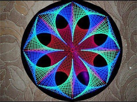 Рукодельный Калейдоскоп. Изонить - YouTube