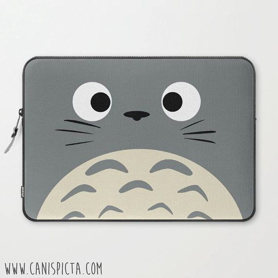 Totoro Kawaii Laptop Case My Neighbor Sleeve Macbook Computer Studio Ghibli  Miyazaki iPad Movie Anime PC Grey Gift Custom Unique For Tablet  58c10a9aadf3