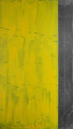 <B> Günther Förg </ b> <i> Zonder titel I, </ i> 1990 acryl op lood 110 ¼ x 62 inch (280 x 160 cm.)
