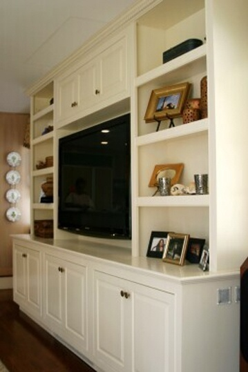 every tv and living room is different so building a custom tv stand tv cabinets will house your entertainment center look good while staying on budget - Built In Entertainment Center Design Ideas