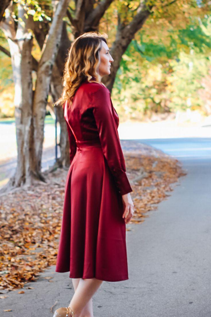 Satin Midi Dress For Fall And Winter Satin Midi Dress Winter Dress Outfits Midi Dress Outfit [ 1102 x 735 Pixel ]