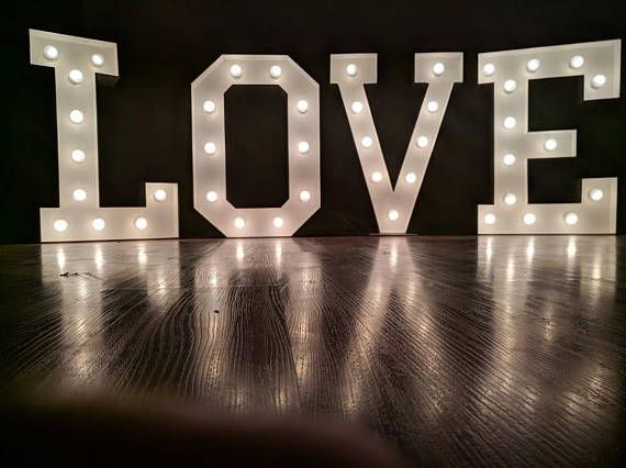12 40 Large Wedding Sign Large Marquee Letters Light Up Wedding Love Giant Letters Custom Marque Light Up Love Sign Marquee Letters Wedding Light Bulb Letters