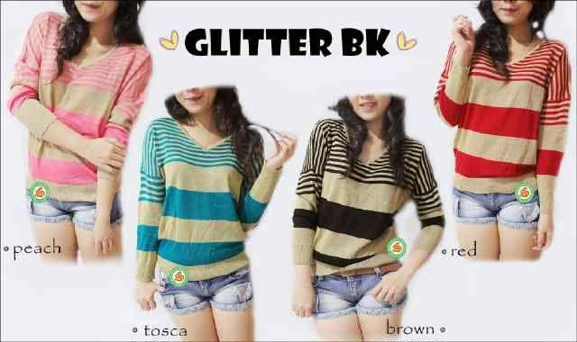 """Glitter BK lengan panjang"" Ready Stock  Harga Rp 43000 tersedia 4 warna"