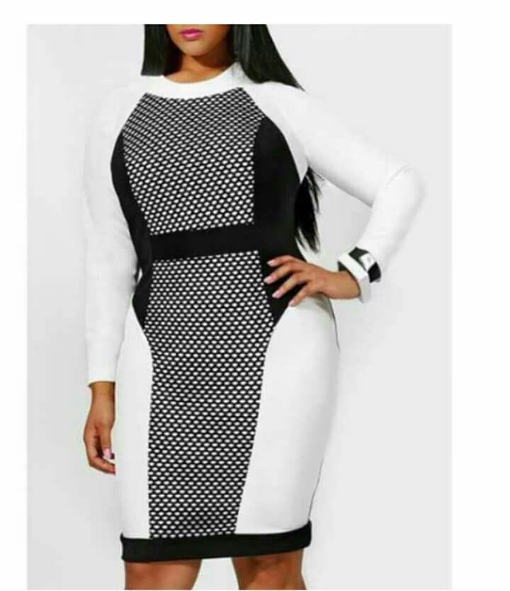 Long Sleeve Mesh Spliced Dress