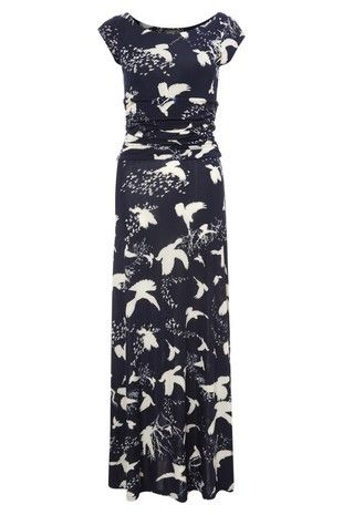 great print and cut on this dress