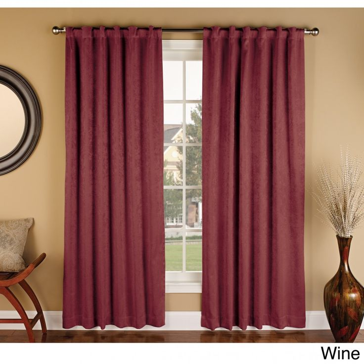 Beautify Your Interior Design Living Room With Cute Blackout Curtains Ideas Amy Faux Suede Maroon