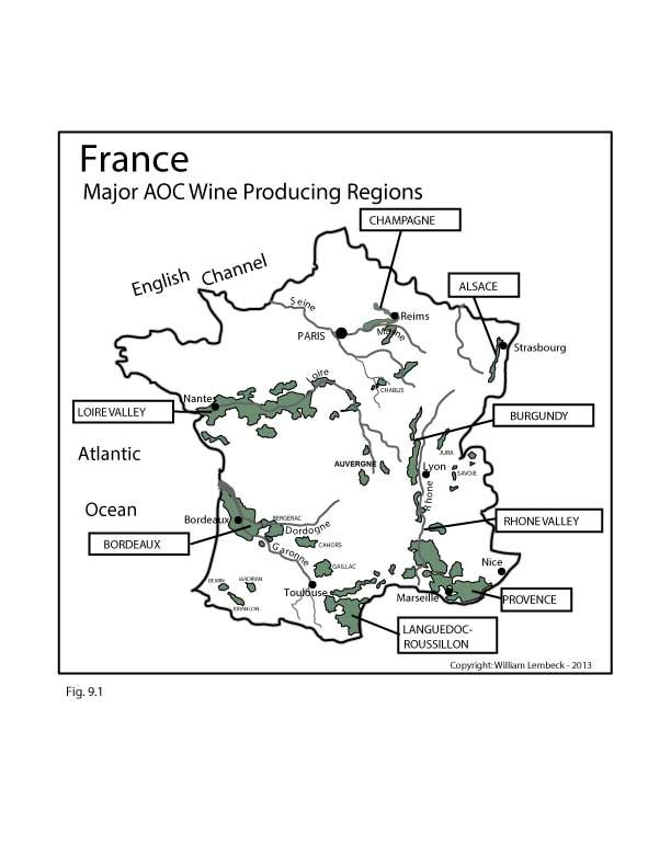 France: Major AOC #Wine Producing Regions | by @wine_educators