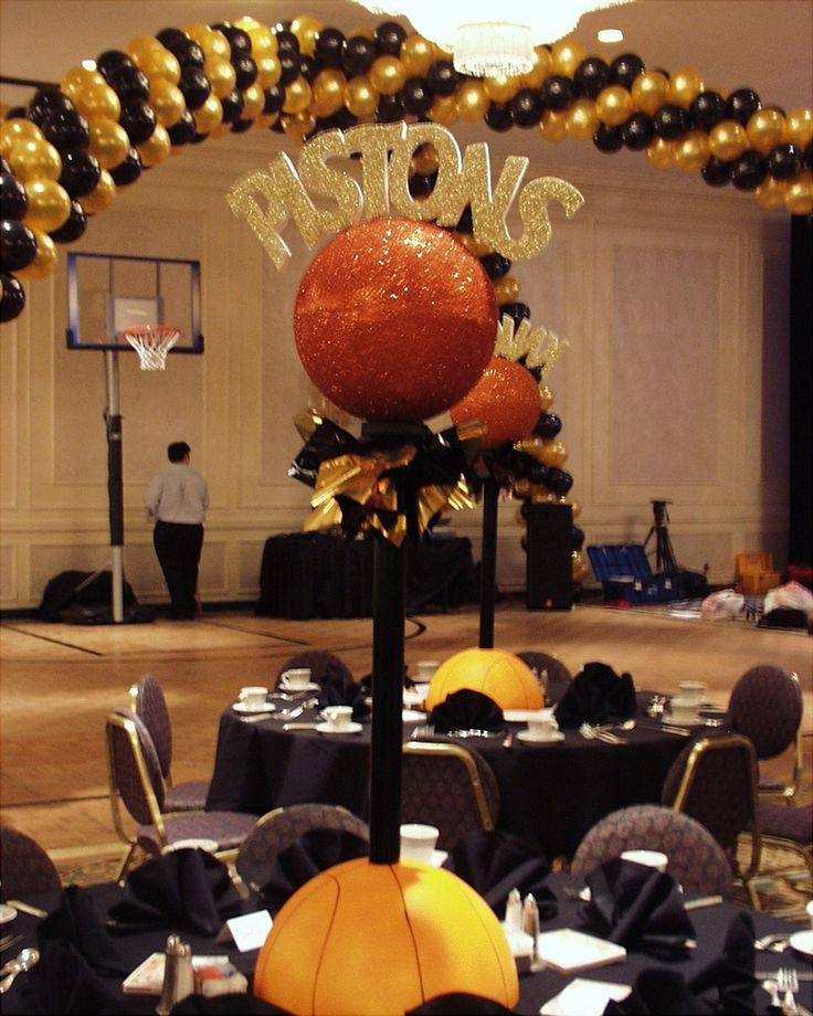 Best diy basketball theme party centerpieces