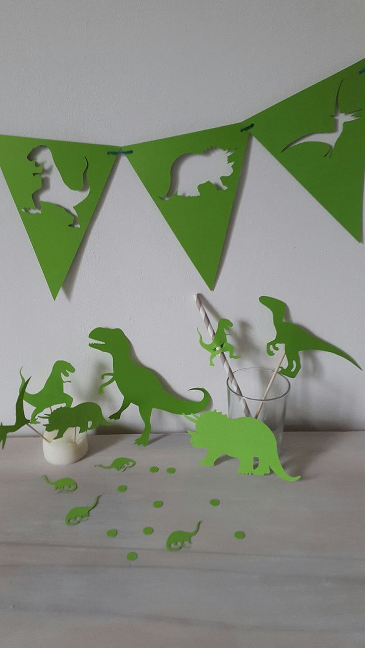 Kit décoration anniversaire dinosaure - baby shower, candy bar