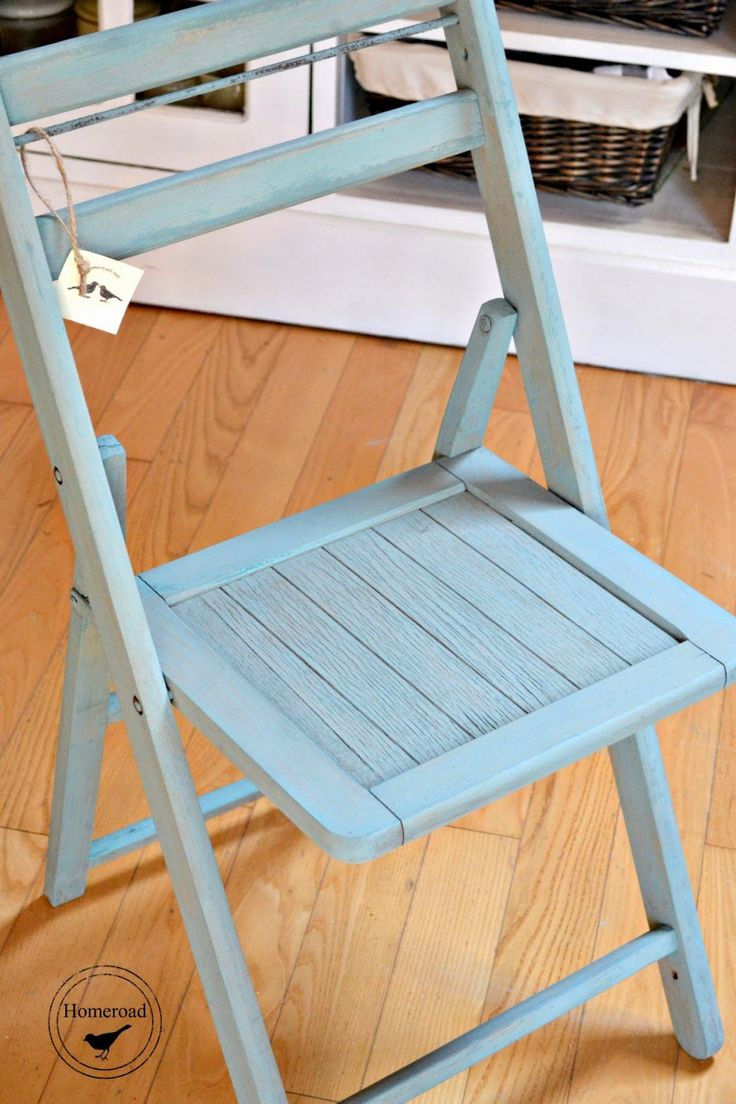 Miss Mustard Seed Milk Painted Wooden Folding Chairs