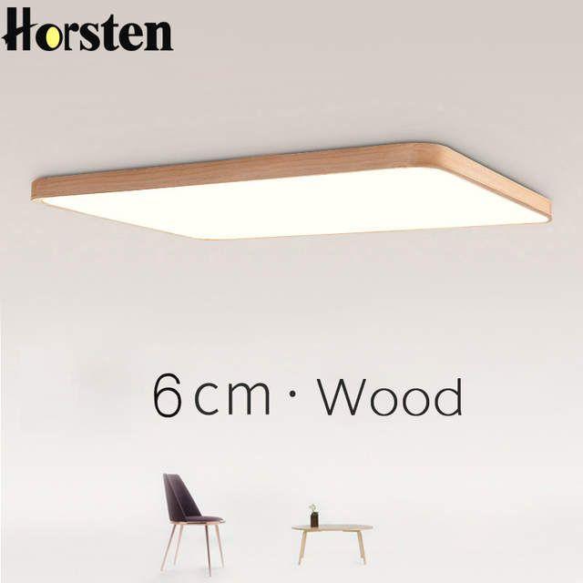 Nordic Einfache Moderne EICHE Holz Decke Lampe Ultra dünne Japanische LED Decke Lichter Für Schlafzimmer Wohnzimmer Küche Studie Balkon – Haus innen